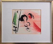 Marc Chagall (1887-1985), 'Eifelturm in grün aus Lassagne'