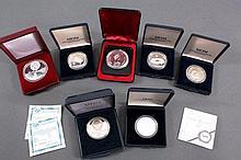 Kleine Sammlung von 7 Gedenkmünzen aus Silber