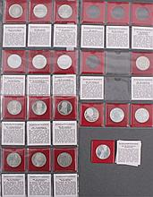 17 Gedenkmünzen 5 DM