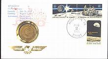 MOTIV Weltraum, APOLLO 15, Space Medal Brief 1986