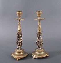 Paar Biedermeier-Kerzenständer