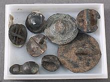 8 Keltische Knöpfe aus Bronze