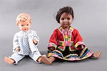 Zwei Schildkröt-Puppen. Ursel und Manuela
