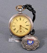 Silberne Taschenuhr um 1900, Herst. Bäumer u. Cie.