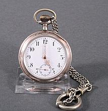 Silberne Herrentaschenuhr um 1900