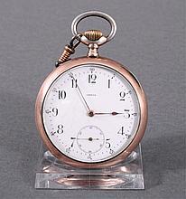 Silberne Herrentaschenuhr der Marke Omega um 1900