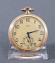 Goldene Herrentaschenuhr der Marke Alpina
