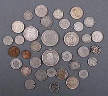 35 Münzen Schweiz teils Silber