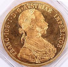 4 Dukaten Goldmünze, Österreich
