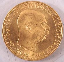 Österreich 20 Kronen, Gold 1915
