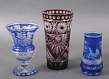 3 Böhmische Glasobjekte