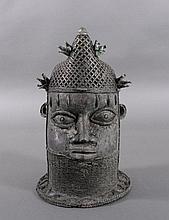 Bronze-Kopf einer Königin Mutter - Ife/Benin/Nigeria um 1920