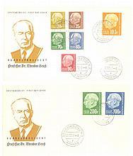 1957 SAAR, HEUSS - ERSTTAGSBRIEFE, Katalogwert 300,- Euro
