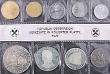 Österreich Münzsatz 1972 OVP Komplette Ausgabe PP