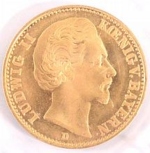 20 Mark Ludwig II König v. Bayern, 1874 D