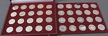 Österreich, Sammlung Silbergedenkmünzen in Schatulle
