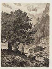 Bernhard Mannfeld (Dresden 1848 - 1925 Frankfurt)- 2 Radier-