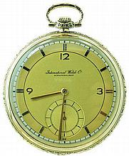 14k Yellow Gold IWC International Watch Company Pocketwatch
