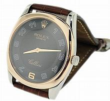 18K White and Rose Gold Rolex Cellini Danaos Watch 4233/9
