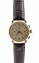 Vintage 18k Rose Gold Heuer Square Button Chronograph Watch