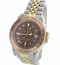 Stainless Steel and Gold Mens Rolex GMT Master Watch