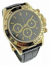 18K Yellow Gold Rolex Daytona Chronograph Watch #16518