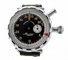 Rare and Unusual Minerva WWII Military Pilot Watch