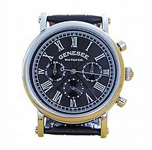 Gents Stainless Steel Genesee Watch Co Wristwatch