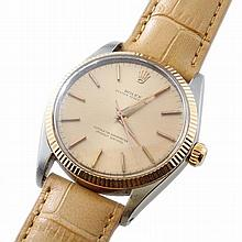 Men`s Rose Gold and Steel Rolex Oyster Perpetual Watch