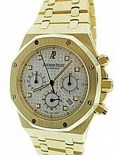 18k Yellow Gold Audemars Piguet Royal Oak Chrono Watch