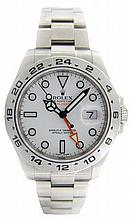 Large Gents Stainless Steel Rolex Explorer II Watch #216570