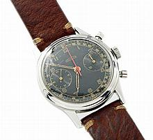 Vintage Mens Steel Angelus Military Chronograph Watch
