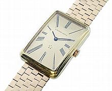 Large Mens 18K Yellow Gold Eterna-Matic Swiss Watch