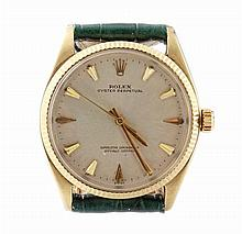 Men's 14k Yellow Gold Rolex Oyster Perpetual Wristwatch
