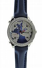 Steel and Diamonds Five Time Zones Jacob & Co Watch