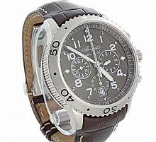 Men's Steel Breguet Type XXI Flyback Chronograph Watch