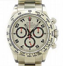 18K White Gold Rolex Daytona Cosmograph Watch Ref 116509