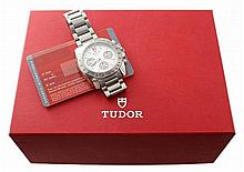 Stainless Steel Mens Tudor Chronograph Watch Ref 20300