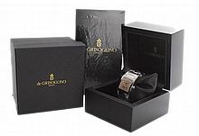Men's De Grisogono Instrumentino Diamond Watch Dual Time