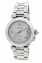 Stainless Steel Cartier Pasha Automatic Watch Ref 2324