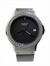 Stainless Steel Men's Hublot Diamond Watch