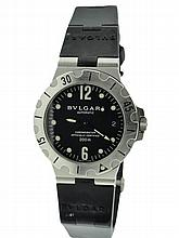 Men's Stainless Steel Bvlgari Scuba Automatic Watch