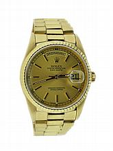 18K Yellow Gold Rolex President Day-Date Watch 18238