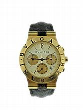 18K Yellow Gold Bvlgari Chronograph Watch