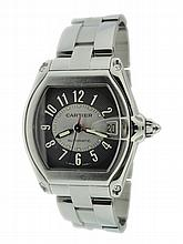 Stainless Steel Men's Cartier Roadster Wristwatch
