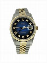 Stainless Steel & Yellow Gold Rolex Datejust Diamond Watch
