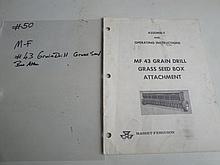 m-f #43 grain drill grass seed box attach.