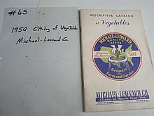 1950 catalog of vegetables
