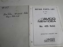 n.i. #405 rake repair parts list