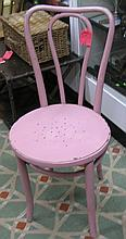 Early ice cream parlor chair